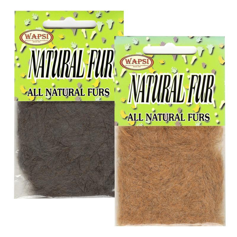 Two Packs of Wapsi Natural Fur Dubbing