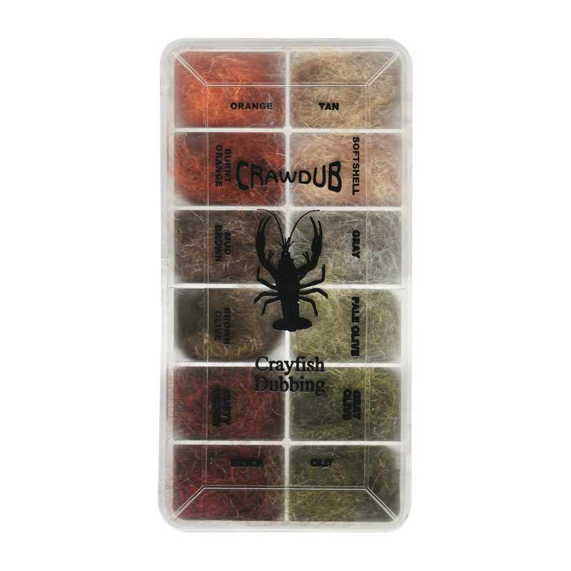 Top View of a Wapsi Crawdub Crayfish Dubbing Dispenser in 12 Colors