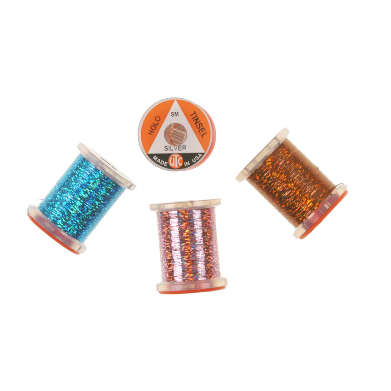 Four Spools of Wapsi Holographic Tinsel Small