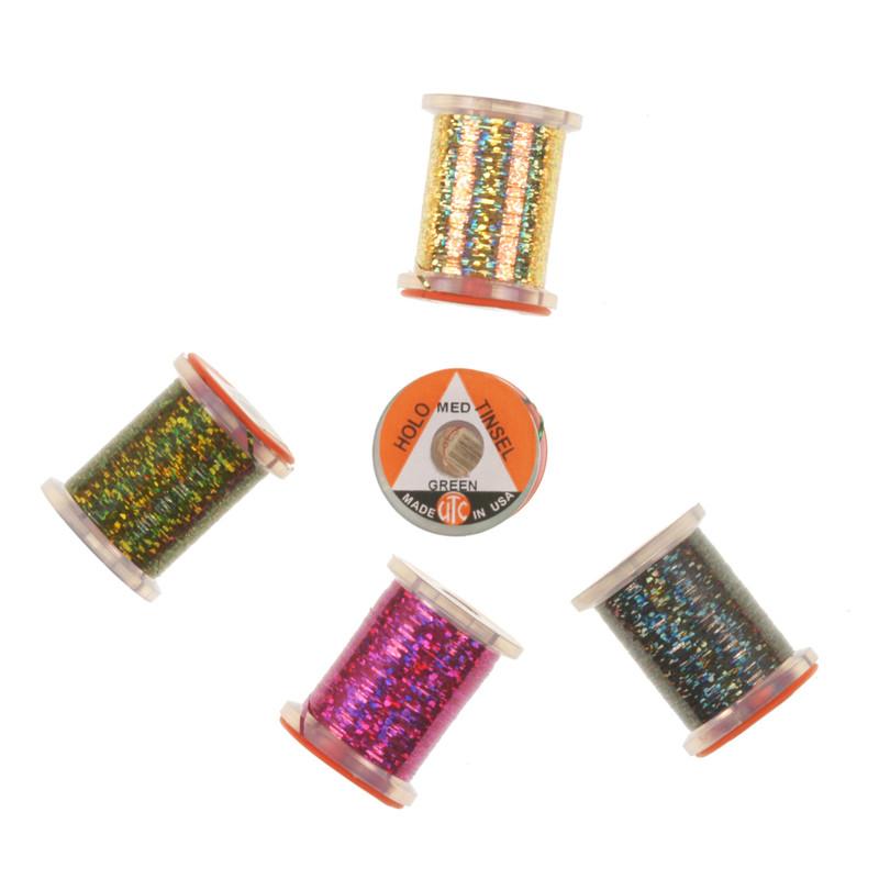 Five Spools of Wapsi UTC Holographic Tinsel Medium