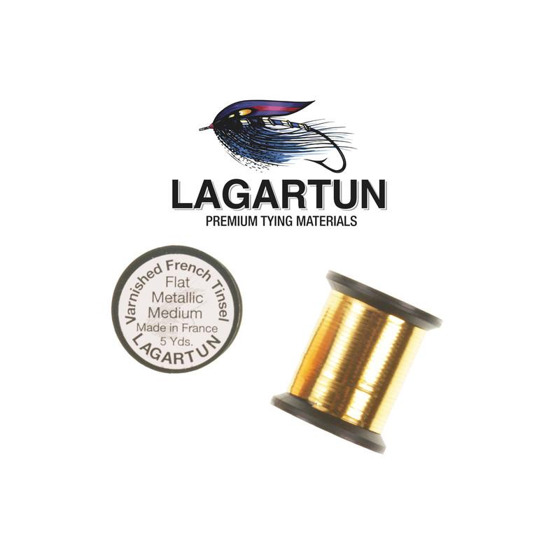 Two Spools of Lagartun Metal Flat Gold Tinsel