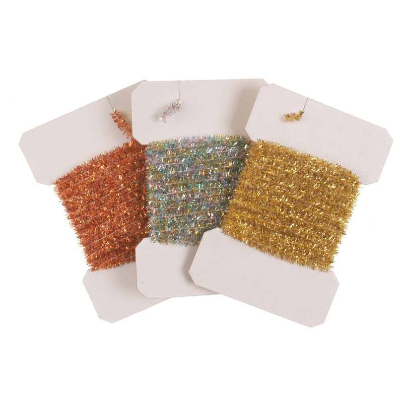 Three Cards of Tinsel Chenille Medium