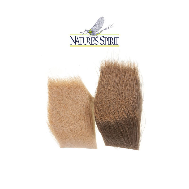 "Two Patches of Natures Spirit Premium Yearling Elk Hair 2"" x 3"""