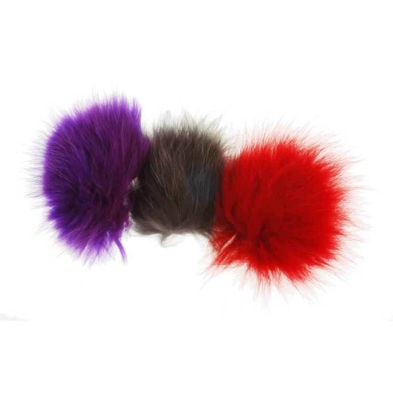 Three Patches of Arctic Fox Fur