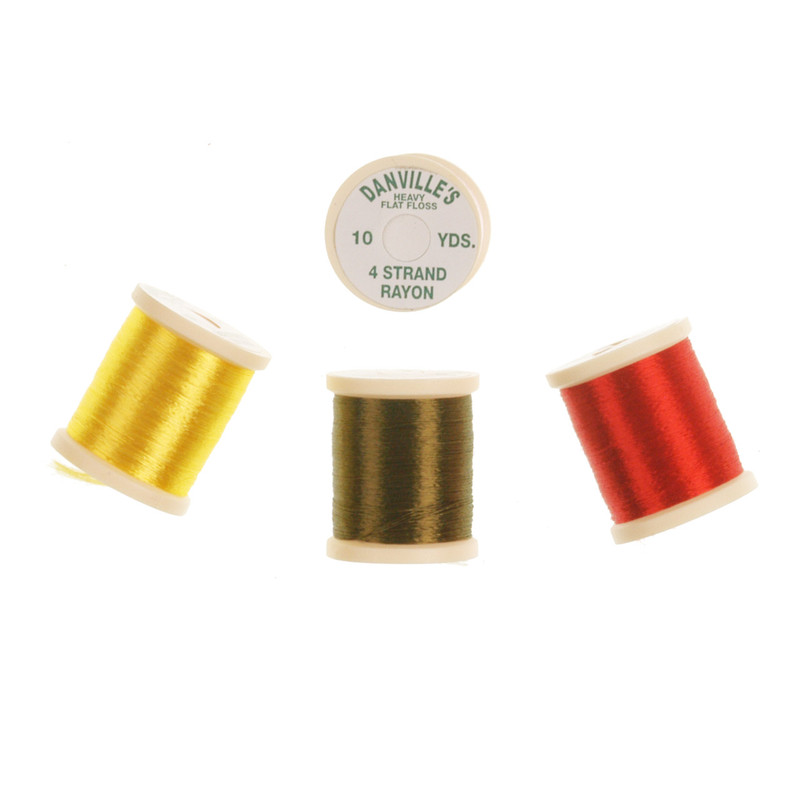 Four Spools of Danville 4-Strand Floss