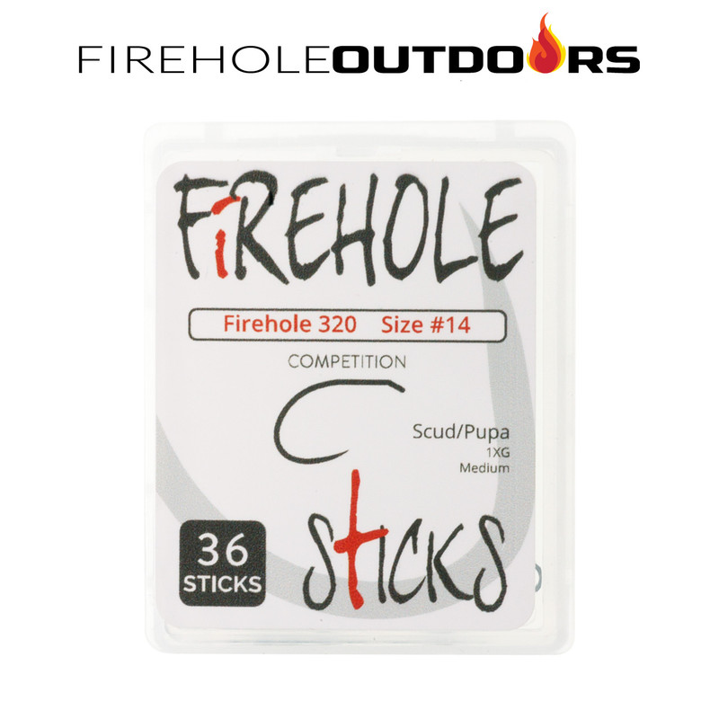36-Pack of Firehole Sticks 320 Scud & Pupa Hooks