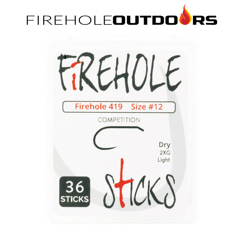 36-Pack of Firehole Sticks 419 Dry Fly Hooks