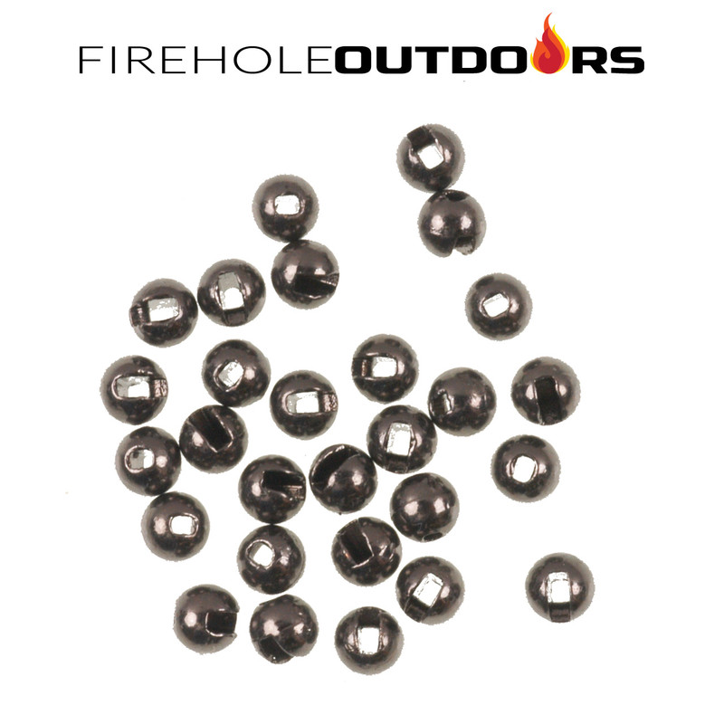 Close Up View of Firehole Stones Slotted Tungsten Black Nickel Beads