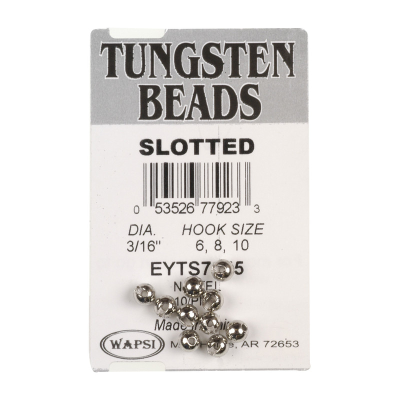 A 10-Pack of Wapsi Slotted Nickel Beads