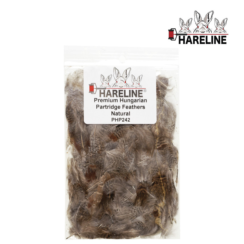 "A 4"" x 6"" Bag of Hareline Premium Hungarian Partridge Feathers Natural"