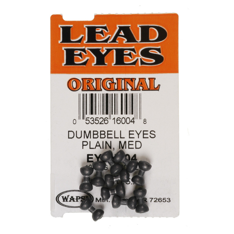 10 Pack of Wapsi Plain Lead Dumbell Eyes