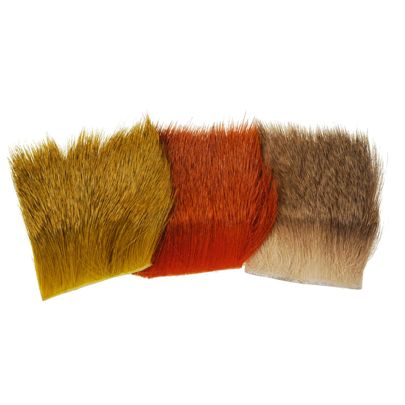 Three Patches of Wapsi Natural and Dyed Deer Body Hair