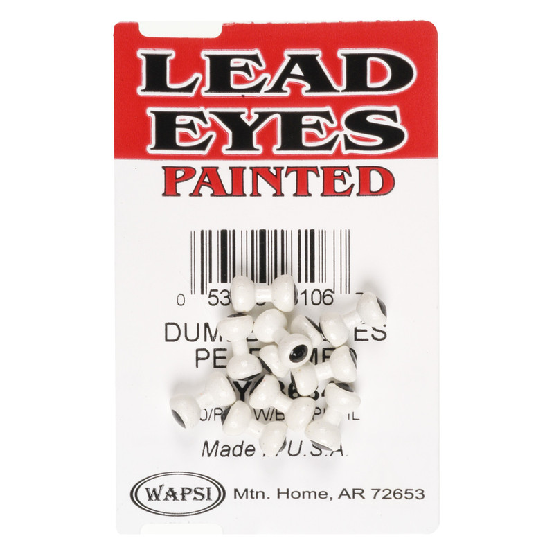 A 10 Pack of Wapsi Pearl Lead Dumbell Eyes