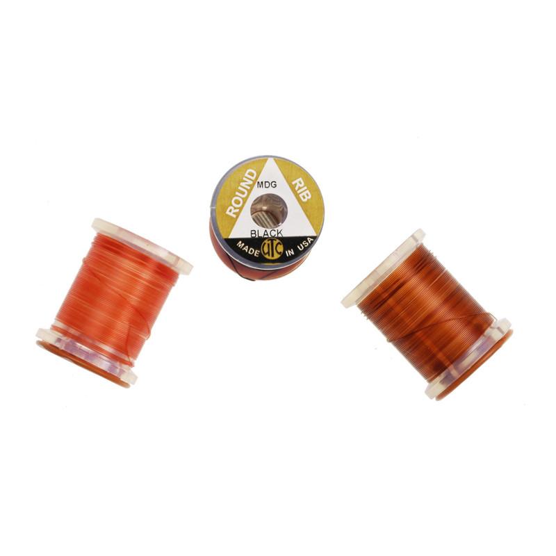Three Spools of UTC Midge Vinyl Round Rib
