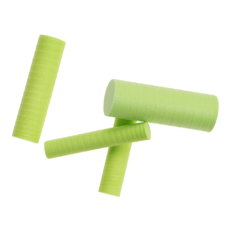 Four Sizes of Foam Cylinders Chartreuse for Making Poppers