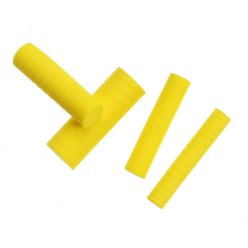 Yellow Foam Cylinders in Various Sizes