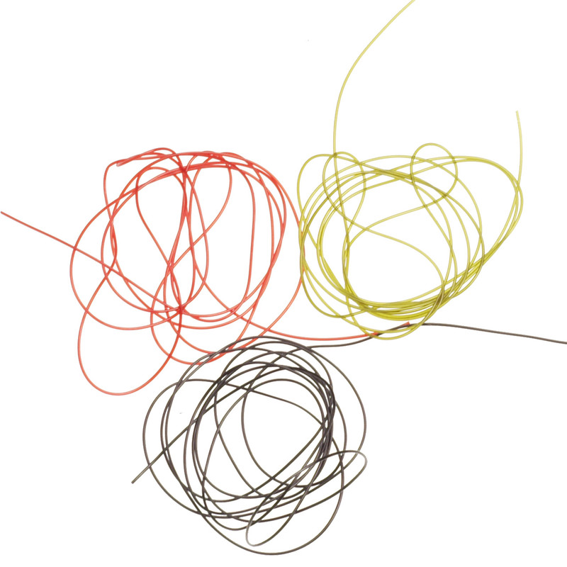 Three Colors of Hareline Micro Tubing