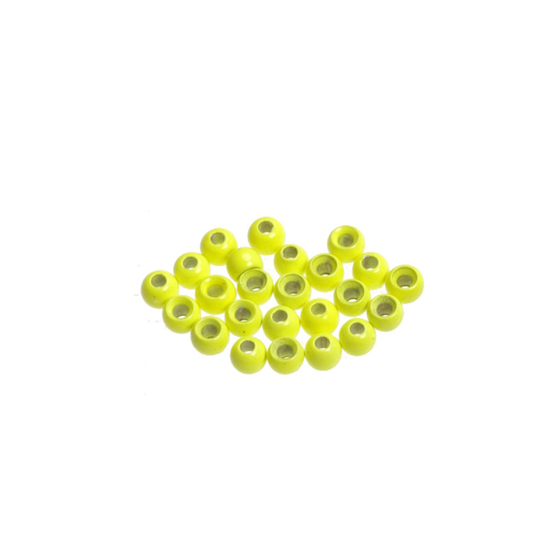 Close Up View of 24 Wapsi Fluorescent Chartreuse Painted Cyclops Beads