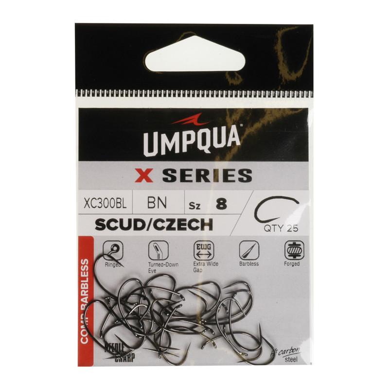 A 25-Pack of Umpqua X-Series SC300 Czech Nymph Hooks