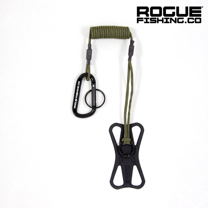 Rogue Fishing Co the Protector Phone tether Green Color