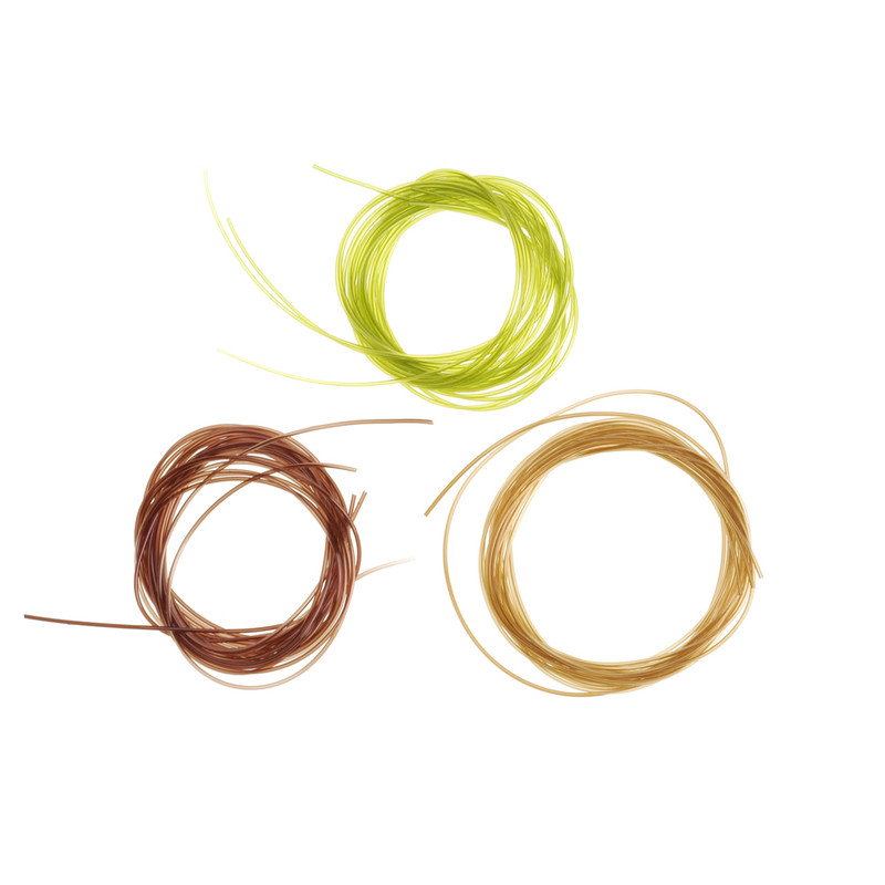 Three Rolls of Stretch Tubing Small in Olive, Brown and Tan