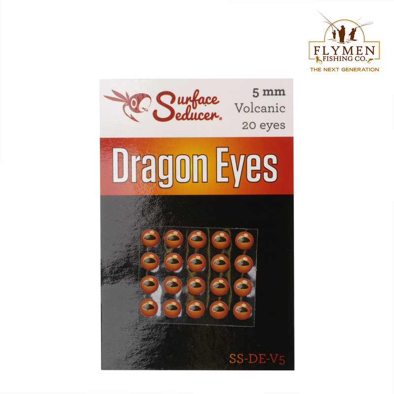 A 20-Pack of Flymen Surface Seducer Dragon Eyes in the Color Volcanic Red