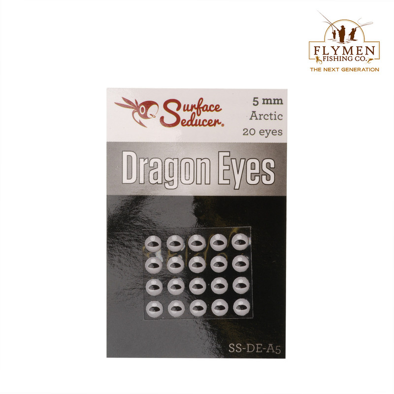 A 20-Pack of Flymen Surface Seducer Dragon Eyes in the Color Arctic