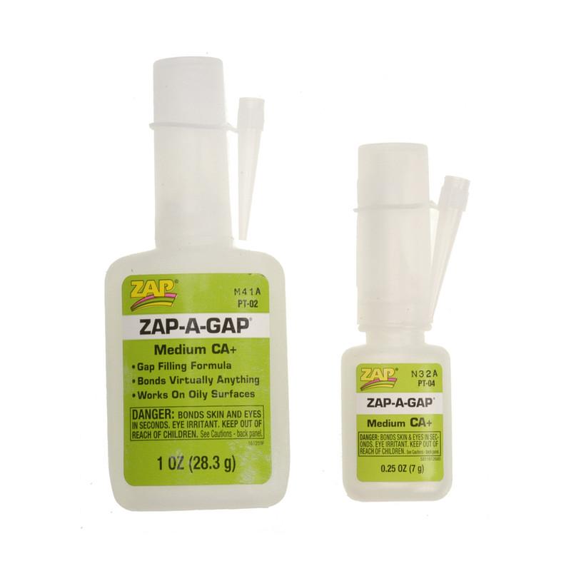 Both Sizes of Zap-A-Gap Medium CA+
