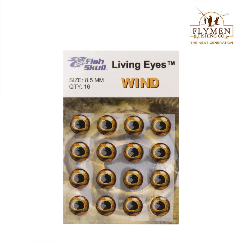 A 16-Pack of Flymen Fish Skull Living Eyes in the Color Wind