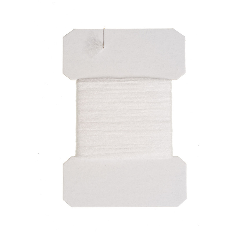 A Card of Wapsi Polypropylene Floating Yarn White