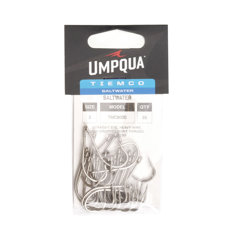 A 25-Pack of Tiemco 800S Stainless Steel Saltwater Hooks