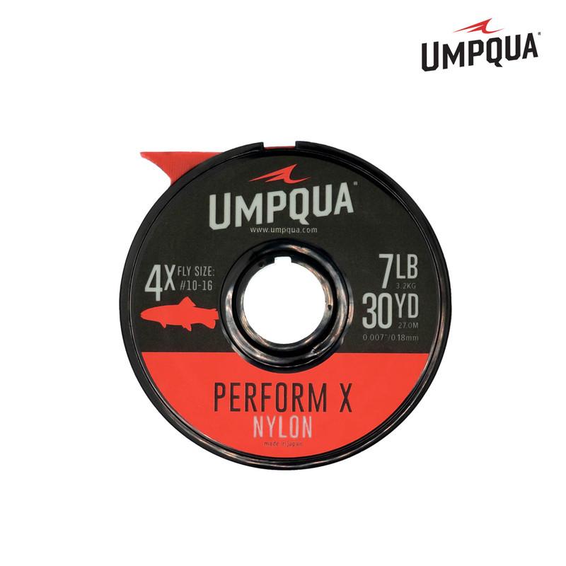 A 30 Yard Spool of Umpqua Perform X Nylon Tippet Material