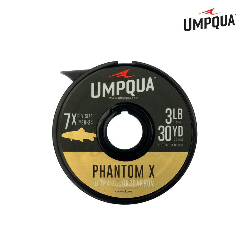 A 30-Yard Spool of Umpqua Phantom X Ultra Fluorocarbon Tippet Material