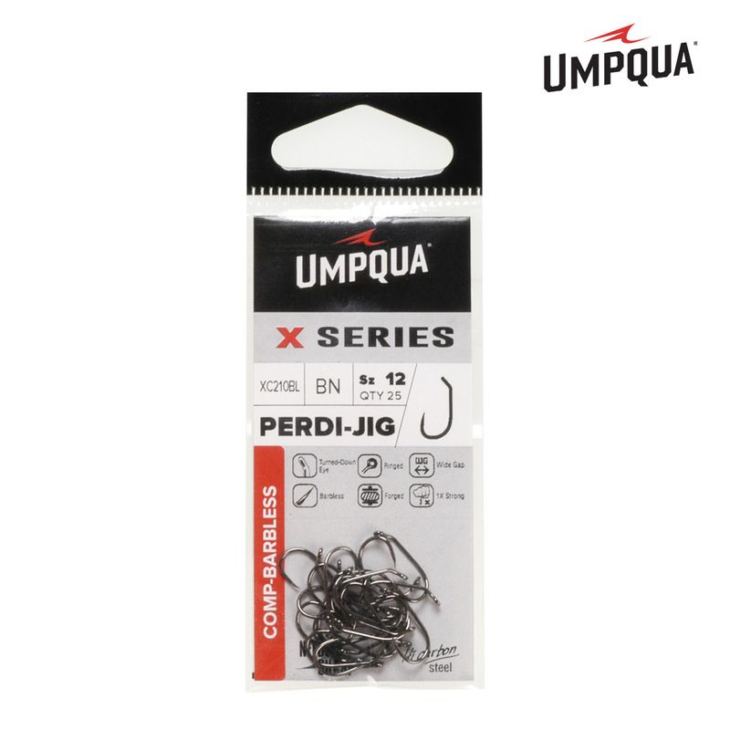 A 25-Pack of Umpqua Perdi Jig Hooks