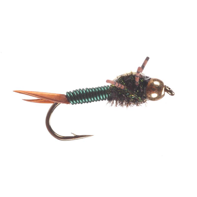 Bead Head Copper Rubber Leg Olive Nymph