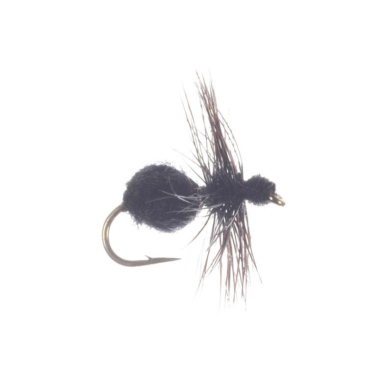 Fur Ant Dry Fly in the Color Black