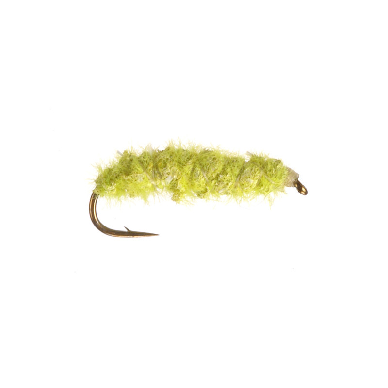 Green Inchworm Furry Foam