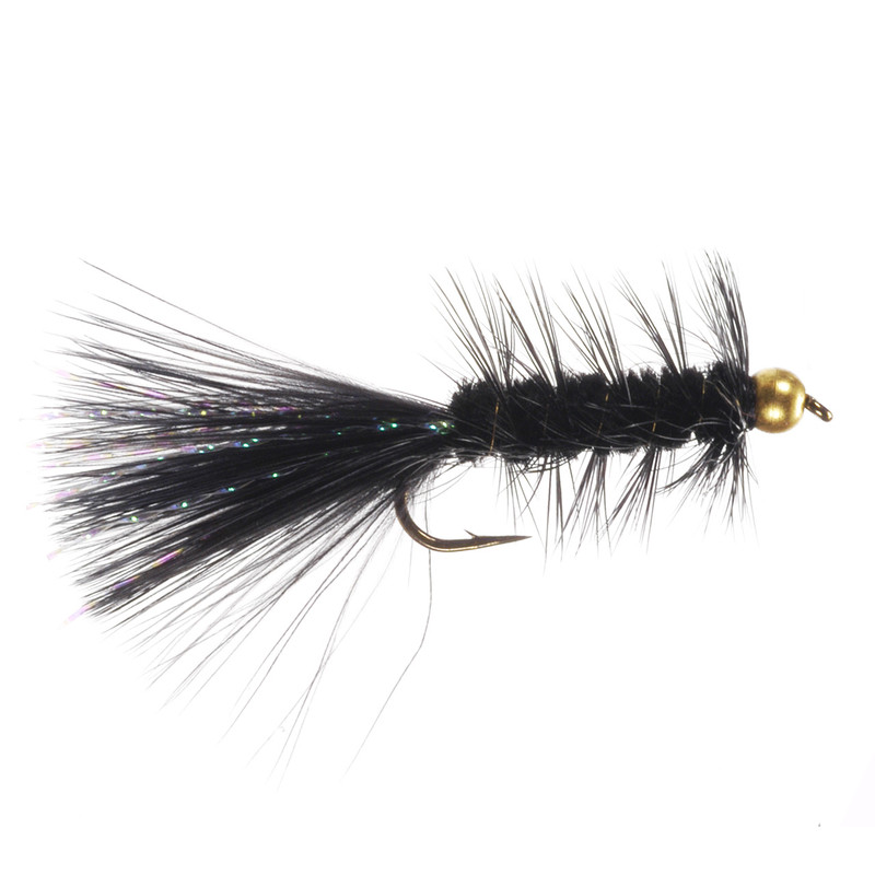 Bead Head Wooly Bugger in the color Black