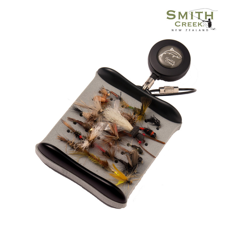 Smith Creek Middle Fork Fly Patch with zinger and loaded with flies