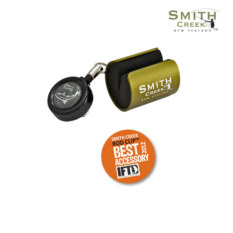 Smith Creek Rod Clip with Logo and IFTD Award