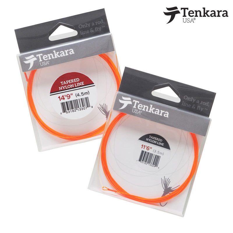 Packs of both sizes of Tenkara USA Nylon Tapered Fly Line