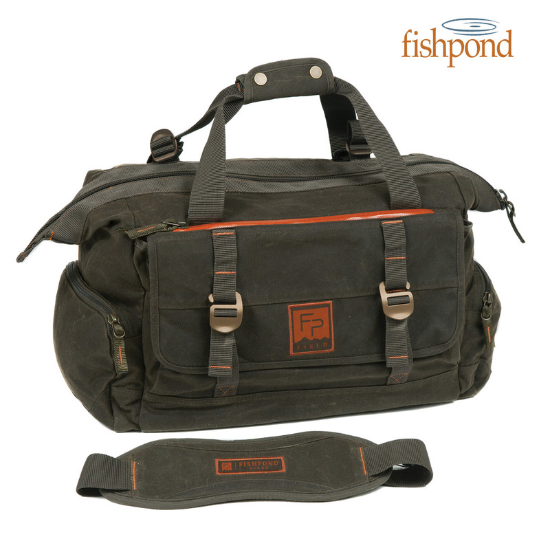 Fishpond Bighorn Kit Bag front view with padded shoulder strap shown.