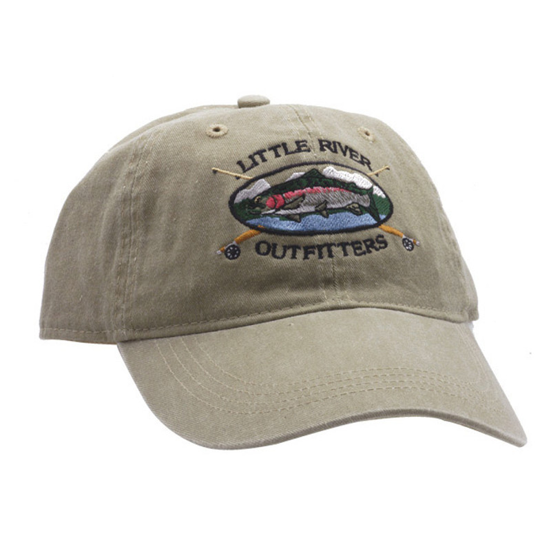 Trout Platter Cap Khaki Front and Side View