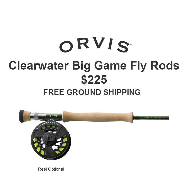 Orvis Clearwater Big Game and Saltwater Fly Rods, Orvis Logo, Price and Free Ground Shipping