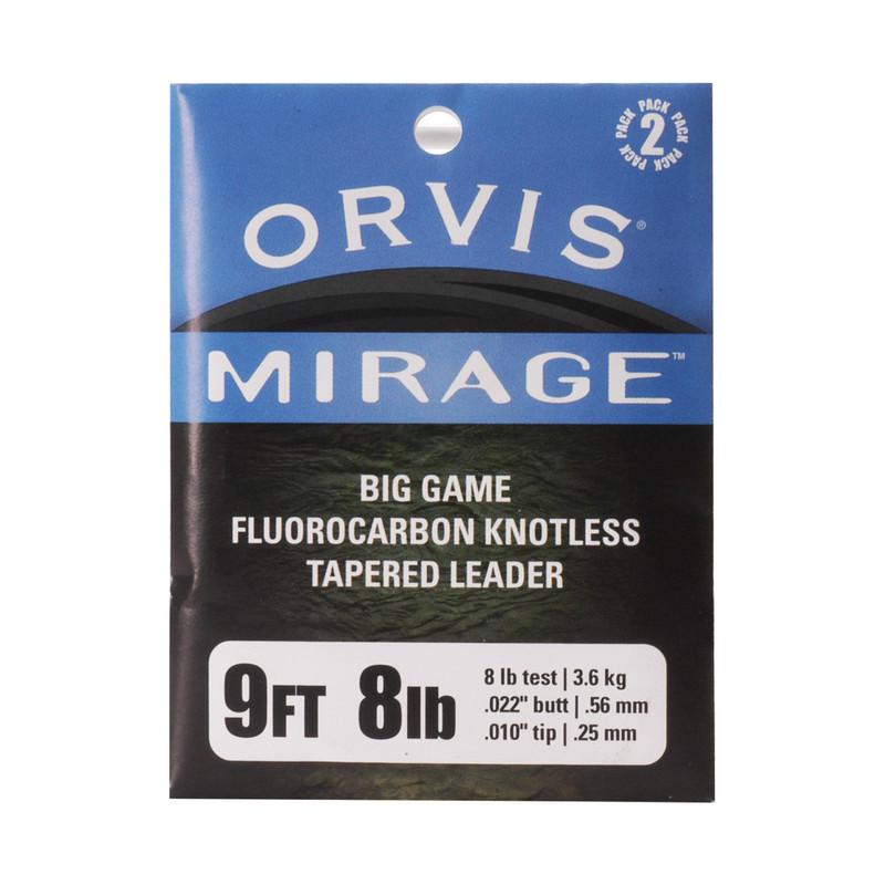 Orvis Mirage IGFA 9' 8 Pound Fluorocarbon Leaders 2 Pack