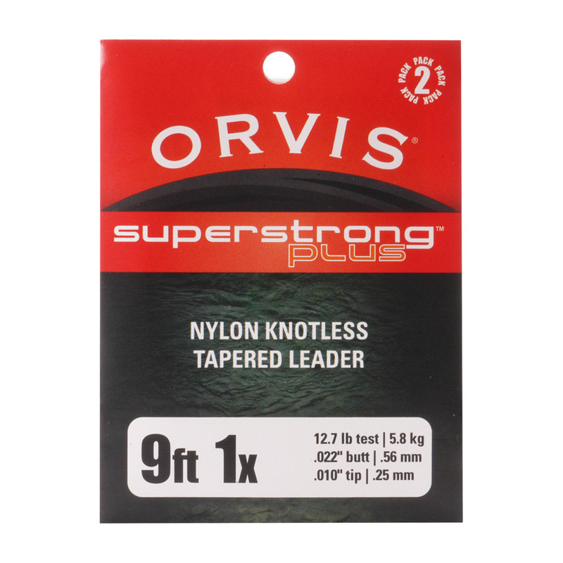 Orvis Super Strong Plus 9' 1X 12.7 Pound Test Leader 2-Pack
