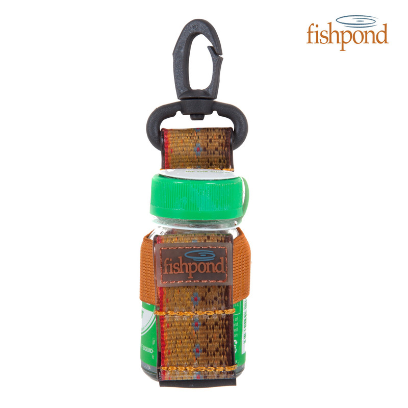 Fishpond Dry Shake Bottle Holder Shown With a Bottle