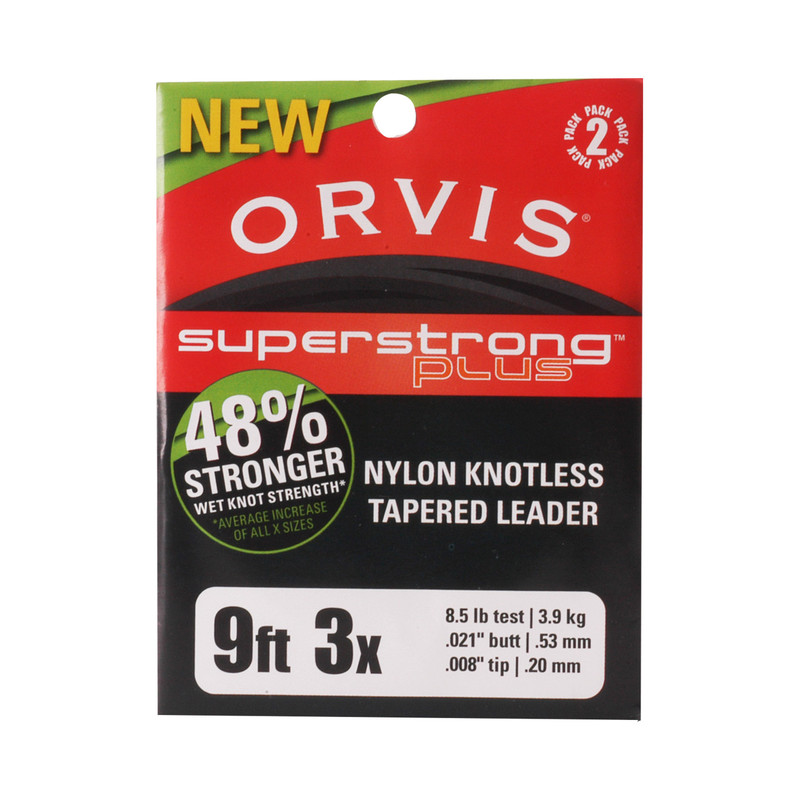 Orvis Super Strong Plus 9' 3X 8.4 Pound Test Leader 2-Pack