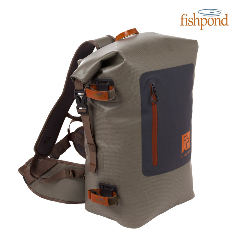 Fishpond Windriver Roll Top Backpack Front and Side View