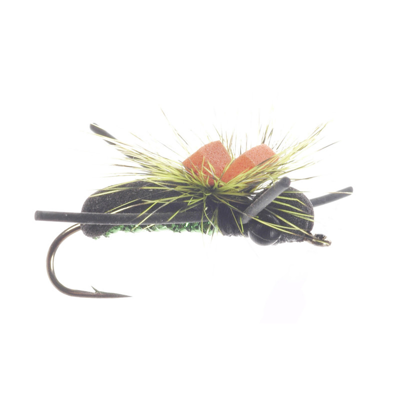 Monster Beetle Dry Fly Side View Showing  the Top with a Good View of the Mono Eyes